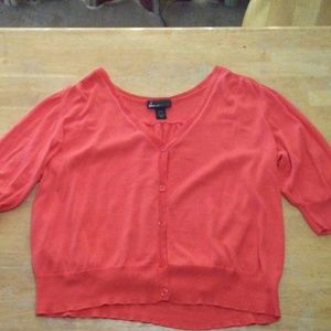 Lane Bryant orange cardigan
